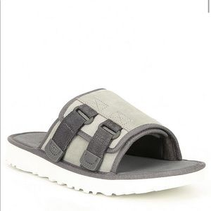 Ugg men's suede fall wool lined gray slides size 8